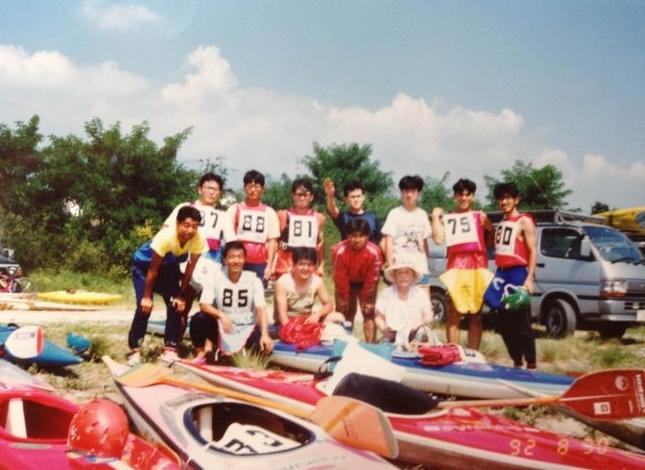 1992年8月30日の天竜川カヌー大会