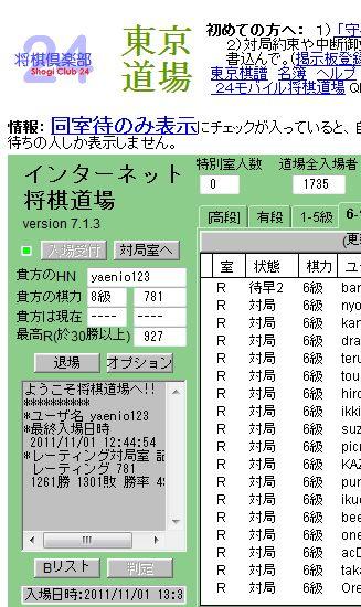 将棋10月の成績