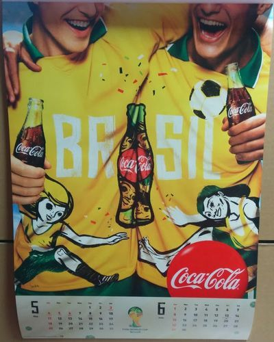 2014年 コカコーラ カレンダー