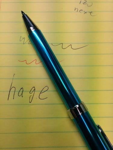 娘からペンを頂きました